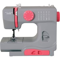 Janome Graceful Gray Basic 10-Stitch Portable Sewing Machine with Accessory Storage