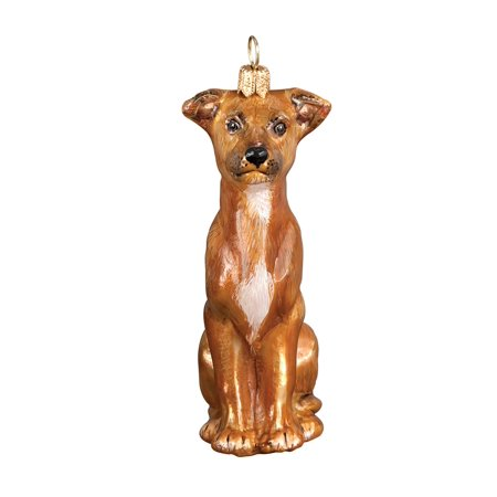 Italian Greyhound Sitting Dog Polish N Gl Christmas Ornament