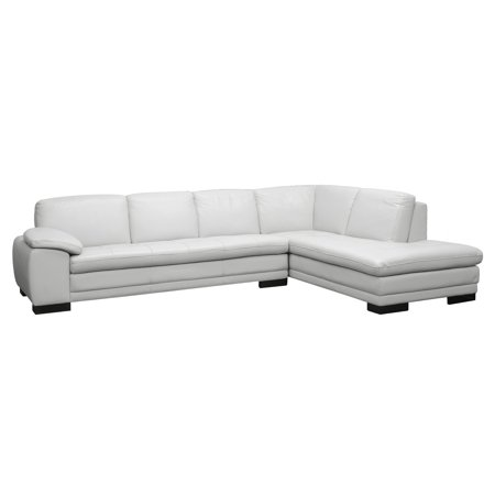 Baxton Studio Diana Leather Modern Sectional Sofa Pale