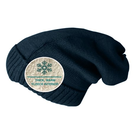 fb9dbd582 W.W Beanie Hats for Men and Women, Fleece Lined Cable Knit Slouchy Beanie,  Unisex (Navy Blue)