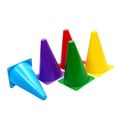 Plastic Traffic Cones. Assorted Colors (12 Pack) 8 1/2
