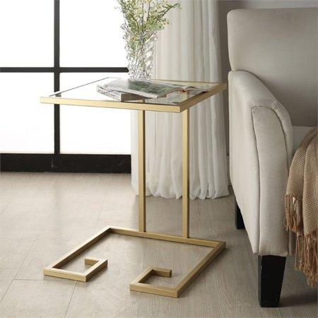 Carolina Classics Royce Glass Top Table in Gold ()