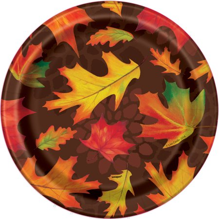 Fall Leaves Paper Plates, 7 in, 8ct