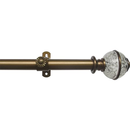 Achim Camino Decorative Curtain Rod and Finial Lancaster