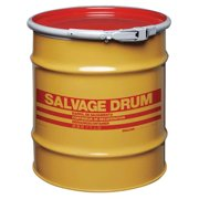 SKOLNIK Salvage Drum, Open Head, 20 gal., Yellow HM2001Q