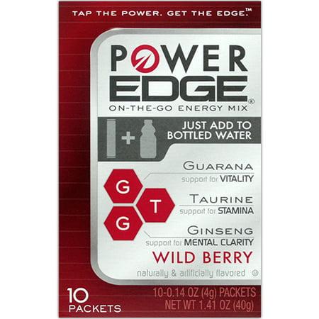 Power Edge  Sugar Free Wild Berry Energy Drink Mix  3 10Ct Boxes  30 Total Sticks