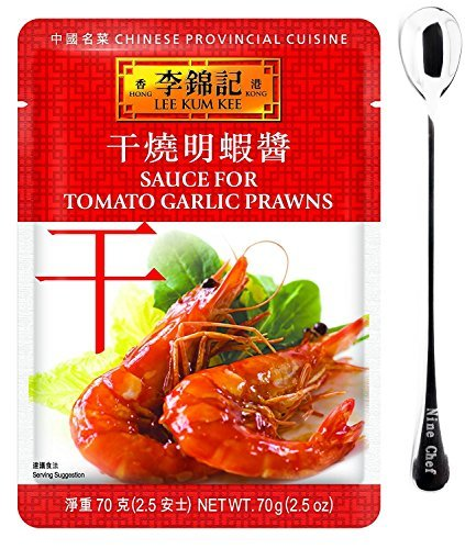 Lee Kum Kee Tomato Garlic Prawns (1 Pack) + One NineChef Spoon by