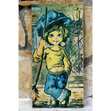 Laminated Poster Picture Old Painting Consists of Boy Old Graphics Poster Print 11 x (Gift Ideas For 17 Yr Old Boy)
