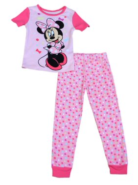 70fff727f0 Product Image Disney Girls Pink Dot Minnie Mouse Pajama Top   Bottoms 2  Piece Sleep Set PJs