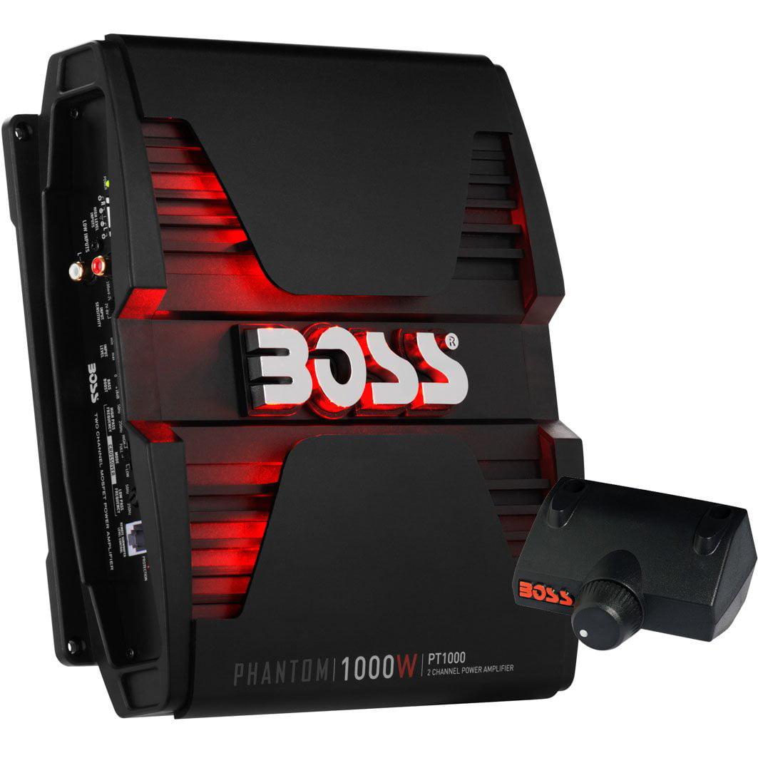 Boss Audio PT1000 Phantom 1000W 2-Channel Full Range, Class A/B Amplifier