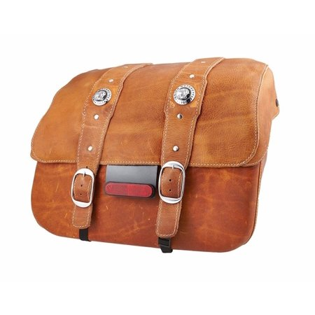 (INDIAN SCOUT GENUINE LEATHER SADDLEBAGS DESERT TAN 2880234-05)