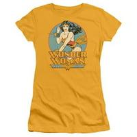 Trevco Dc-Wonder Woman - Short Sleeve Junior Sheer Tee - Gold, 2X
