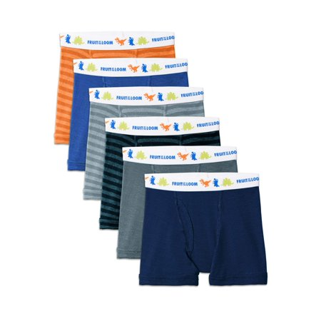 Assorted Cotton Boxer Briefs, 7 Pack (Toddler Boy) (Boys Xl Fruit Of The Loom Boxers)