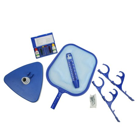 5 Piece Deluxe Swimming Pool Kit Vacuum Skimmer Pole