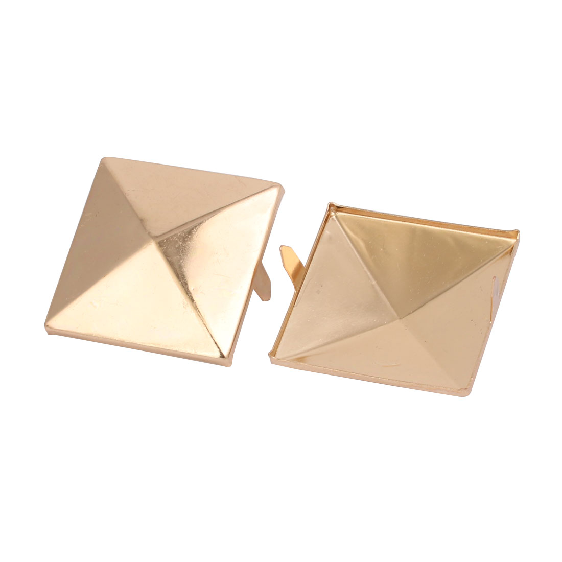 Unique Bargains 10pcs 35mm Square Shaped Paper Brad Light Gold Tone for Scrapbooking DIY Craft - image 1 de 2