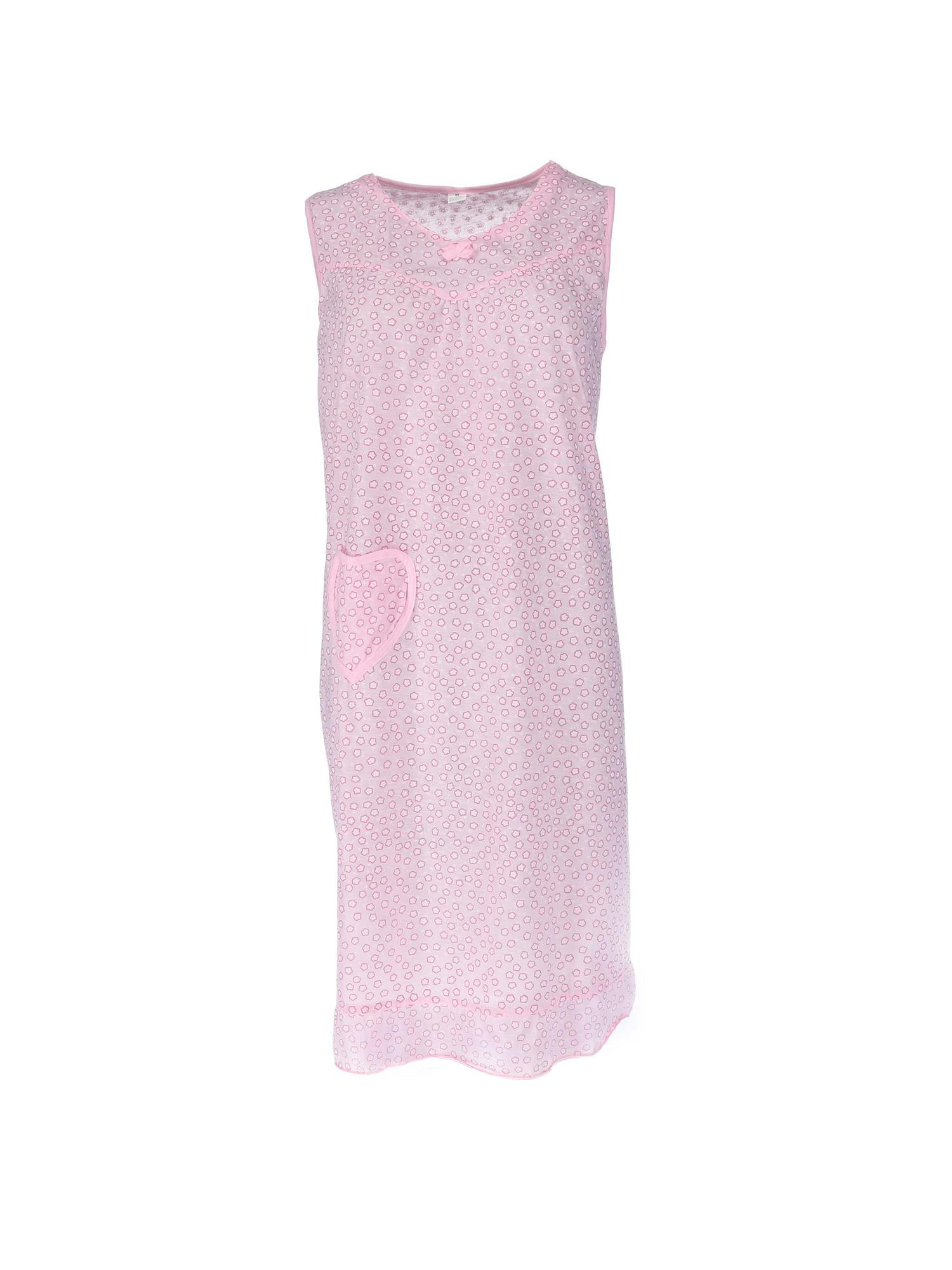 CTM Women's Sleeveless Heart Pocket Night Gown