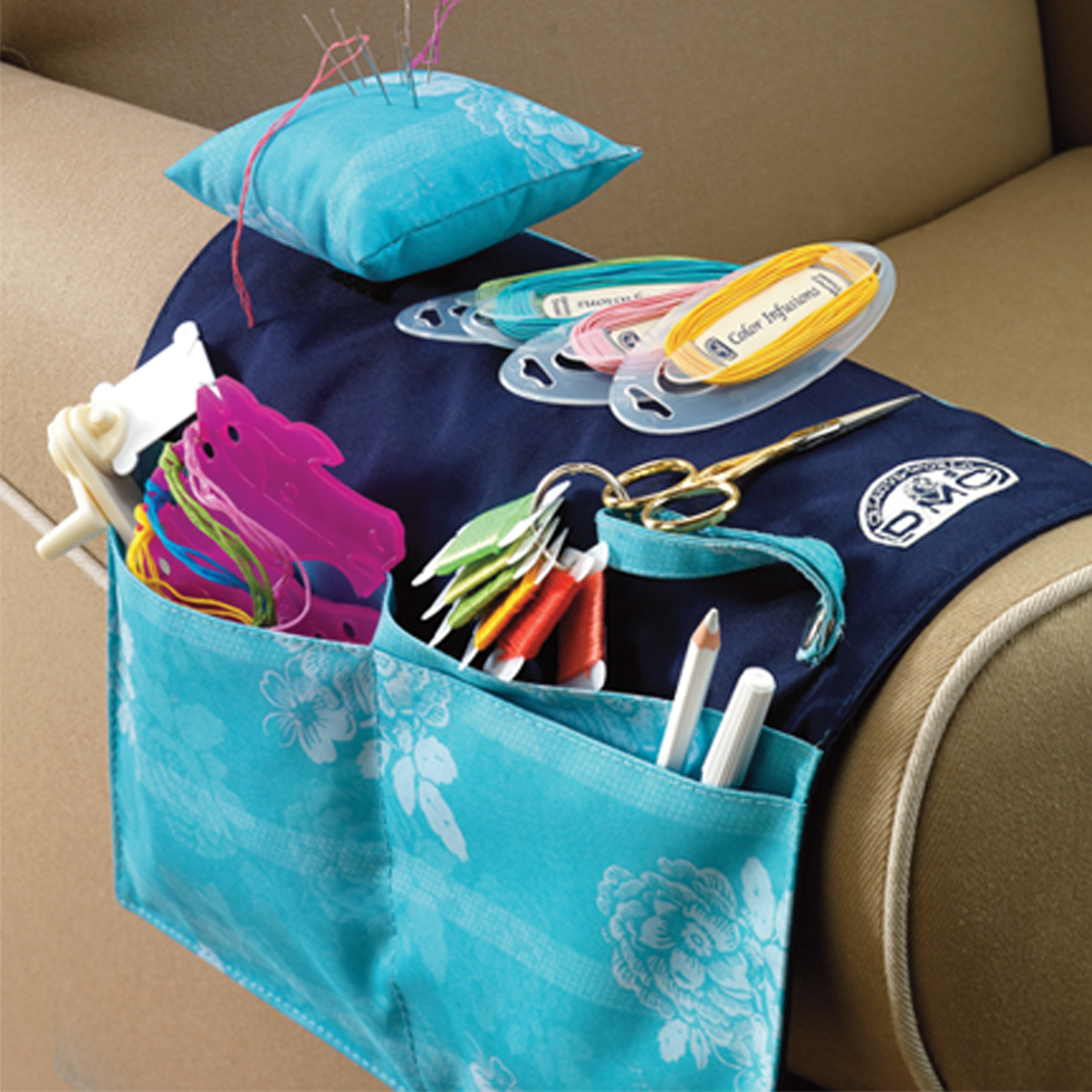 DMC Arm Chair Needlework Organizer- Multi-Colored