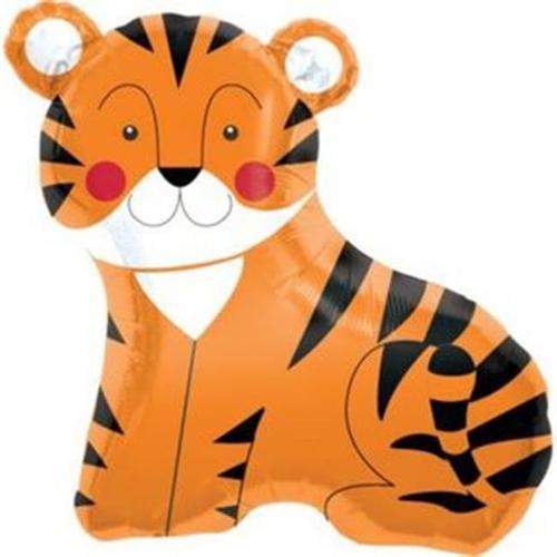 """Tiger 33"""" Balloon (Each) - Party Supplies"""