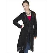 Scully L19-19-XL Womens Leather Coat - Black Boar Suede, XL