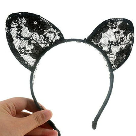 Wowlife Bunny Rabbit Ears Sexy Rabbit Ears Lace Mask Veil Headband Supply for Nightclubs & Masquerade & Halloween & Christmas (Style 02) - image 3 of 4