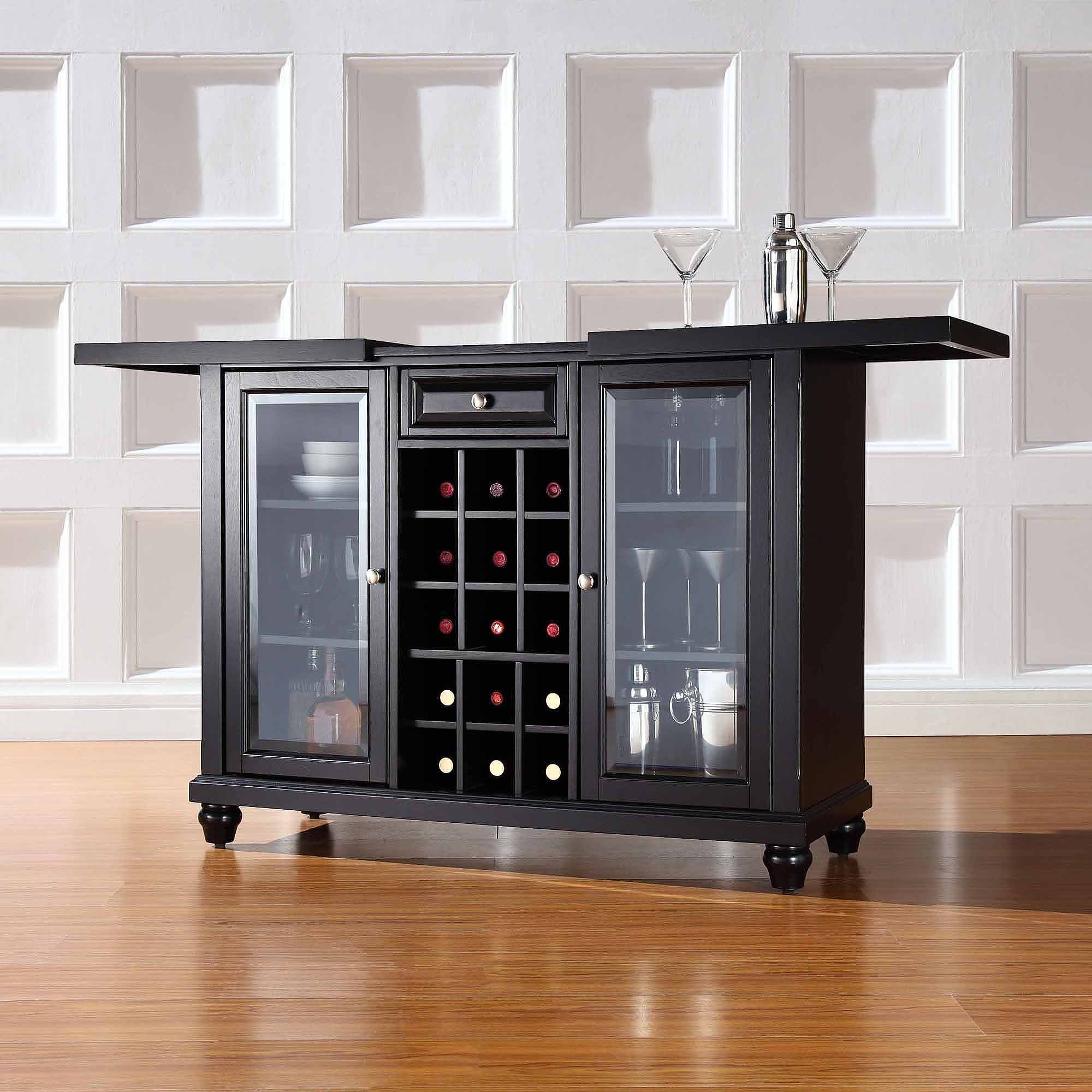 Crosley Furniture Cambridge Sliding Top Bar Cabinet