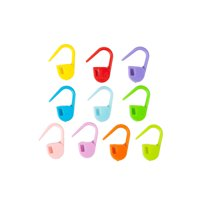 10 Multi Color 120Pcs Plastic Buckle Marker Knitting Assistant Tool Stitch Pins Needles Locking Clips Mini Crochet Accessories Craft Clamps