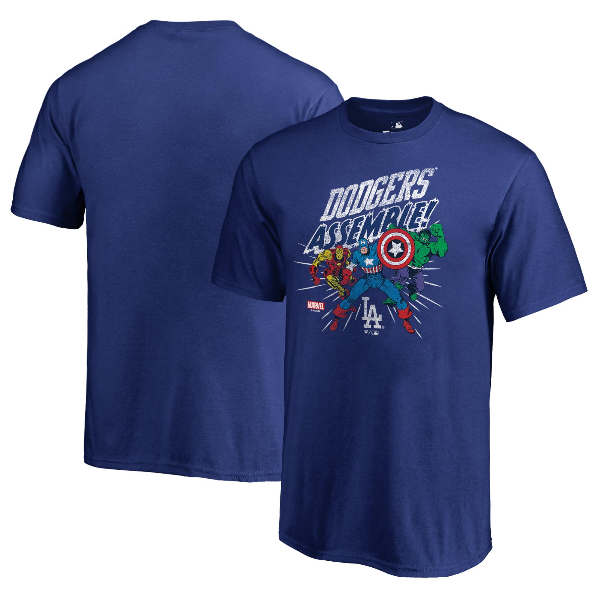 Los Angeles Dodgers Fanatics Branded Youth Marvel Avengers Assemble T-Shirt - Royal