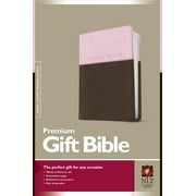 Premium Gift Bible NLT, TuTone (Red Letter, LeatherLike, Pink/Dark Brown)