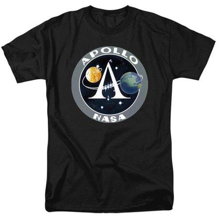 Trevco Sportswear NASA170-AT-9 NASA & Apollo Mission Patch-Short Sleeve Adult 18-1 T-Shirt, Black - 6X - image 1 de 1