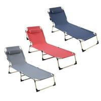 Mgaxyff Portable Folding Outdoor Camping Lounge Beach Garden Patio Recliner Reclining Chair, Outdoor Lounge, Beach Lounge