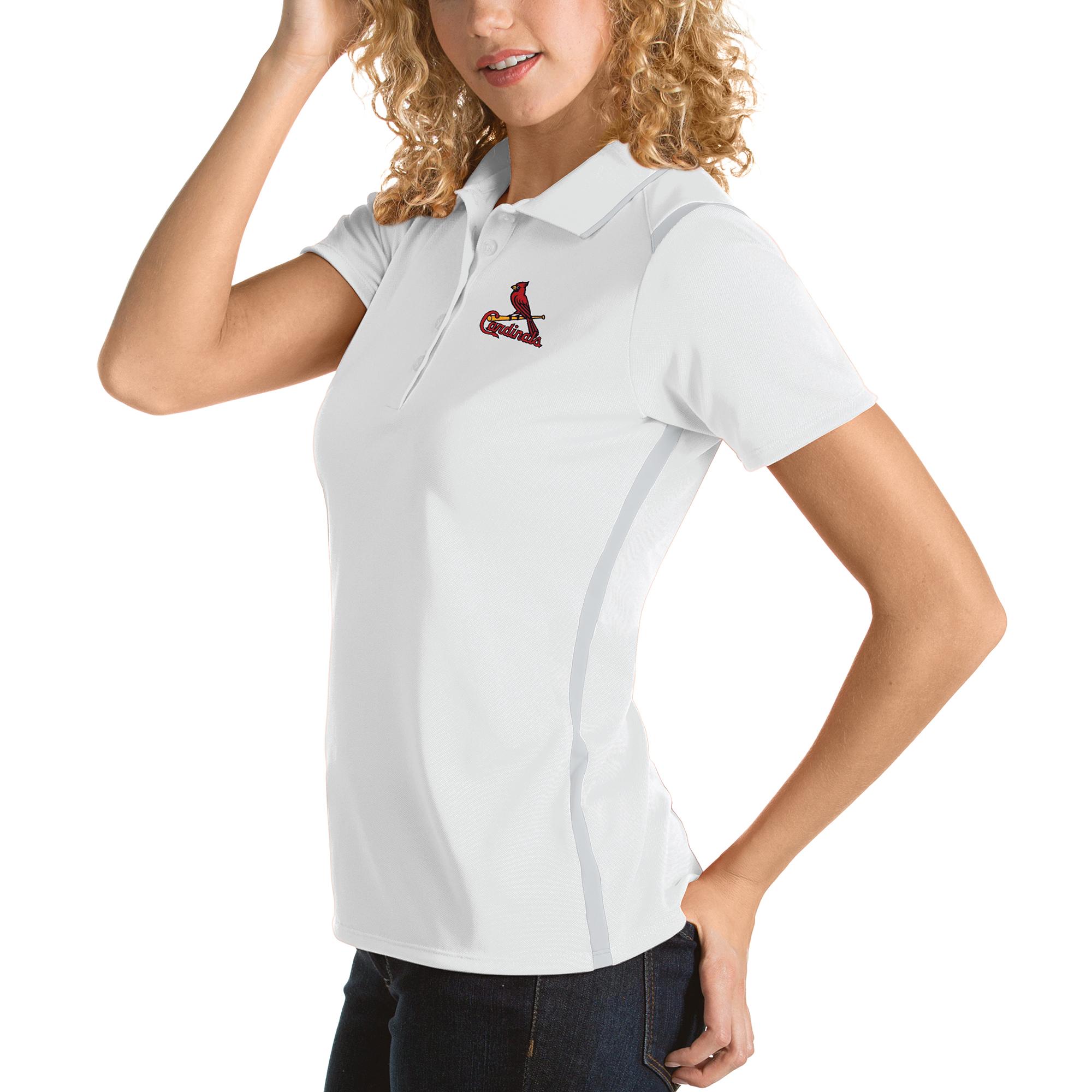 St. Louis Cardinals Antigua Women's Merit Polo - White