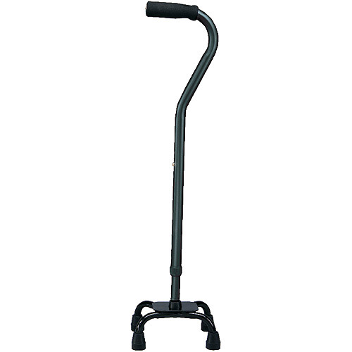 Carex Offset Quad Cane Small Base, Black