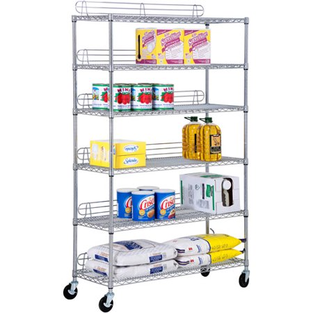 Honey Can Do Urban 6 Shelf Steel Storage Shelving Unit  Chrome