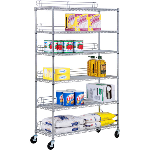 Honey Can Do Urban 6-Shelf Steel Storage Shelving Unit, Chrome