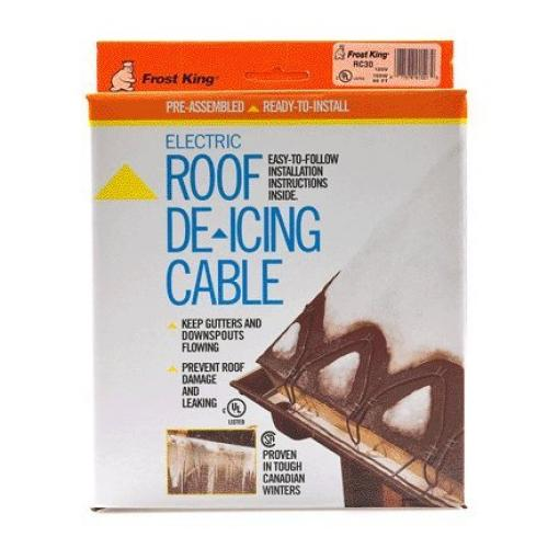 Frost King RC30 30 Feet Automatic Electric Roof Cable Kits, Black