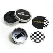 GoBadges CKC015 Magnetic Chrome Grill Badge Holder Starter Kit - Checker