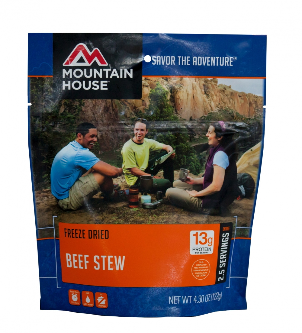 Mountain House -(6 Pack) Beef Stew Main Entree Pouch by Mountain House