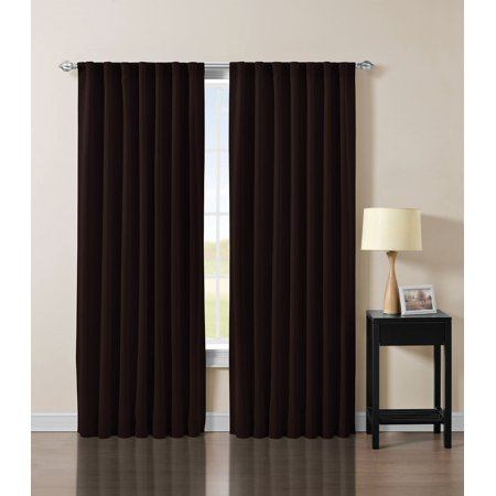 Solid Back Tab Thermal Insulated Blackout Window Curtain 104