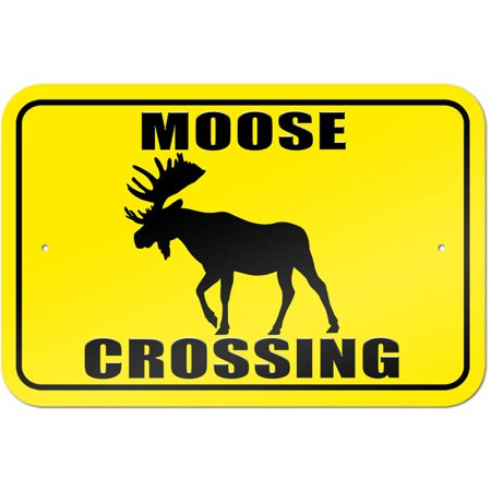 Moose Warning Sign - Moose Crossing Sign