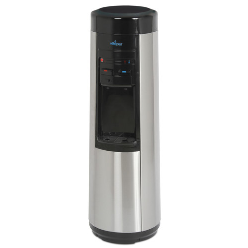 Vitapur VWD9506BLS-POU Floor Standing Point-of-Use Water Dispenser (Hot/Room/Cold) with Piano Push Buttons, On Demand Kettle Feature Heating System