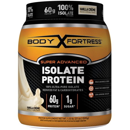 Body Fortress Super Advanced Whey Protein Powder, Vanilla, 60g Protein, 1.33 Lb