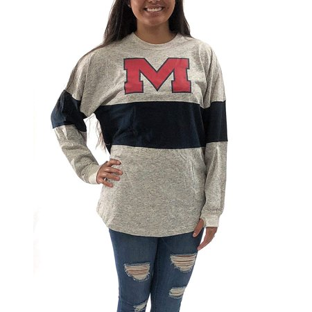 Ole Miss Party Supplies (OLE Miss Rebels Oversized Tee; Long Sleeve T - Shirt University Apparel)