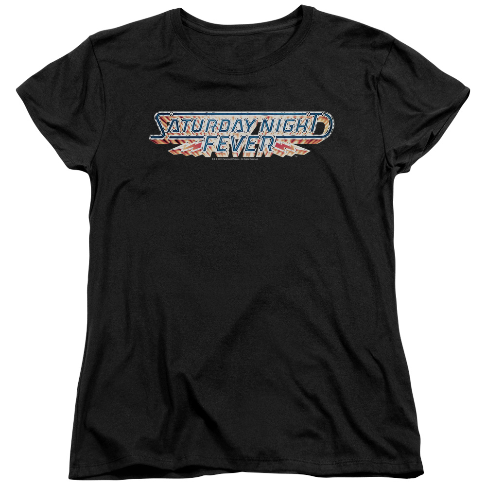 Saturday Night Fever Logo Womens Short Sleeve Shirt