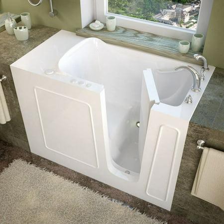 meditub 26x53 right drain white soaking walk in bathtub. Black Bedroom Furniture Sets. Home Design Ideas
