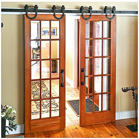 winsoon 5ft double door horseshoe design sliding barn door