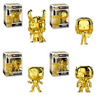 Funko POP! Marvel Studios 10 Vinyl Figures - SET OF 4 (Gamora, Loki, Black Panther +1)(Gold Chrome)