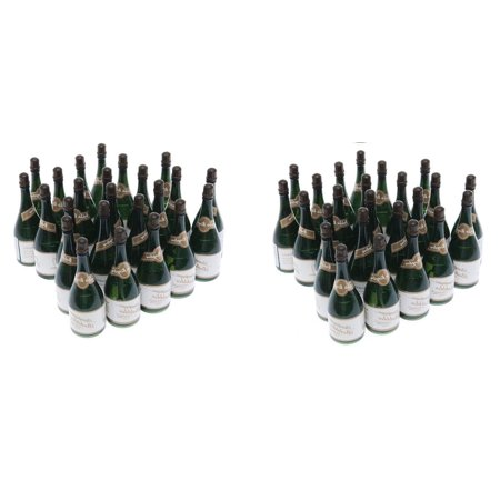 48 Mini Champagne Bottle Bubble Party Favors, for Graduations and Weddings