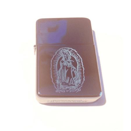 Vector KGM Thunderbird Custom Lighter - Guadalupe Mary Mother Virgin Christian Christ Jesus Logo Blue Sparkle ICE High Polish Chrome Rare!