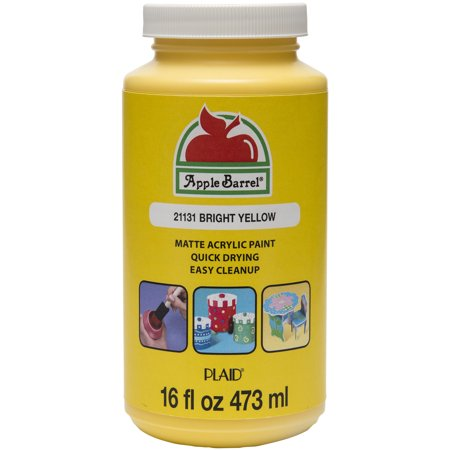 Apple Barrel Matte Finish Bright Yellow Acrylic Craft Paint, 16 Fl. Oz. - Craps Supplies