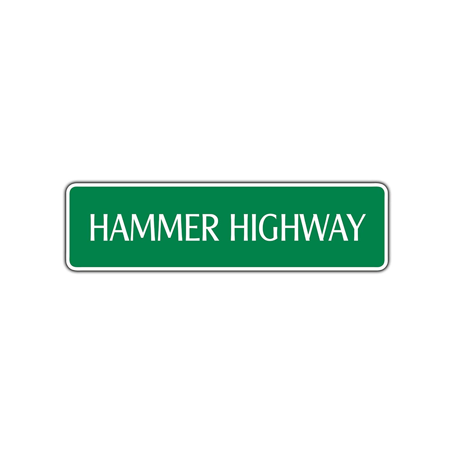 Hot Griddle Hwy 4 x 17 Aluminum Street Sign
